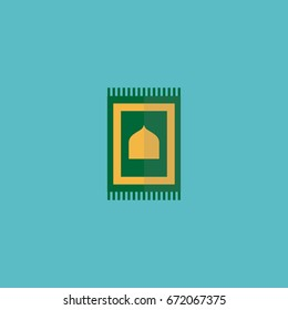 Flat Icon Rug Element. Vector Illustration Of Flat Icon Prayer Carpet Isolated On Clean Background. Can Be Used As Prayer, Carpet And Rug Symbols.