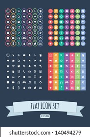 Flat Icon Set - Vector