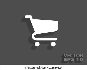 Flaches Symbol für das Einkaufswagen