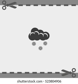 Flat icon of snow.