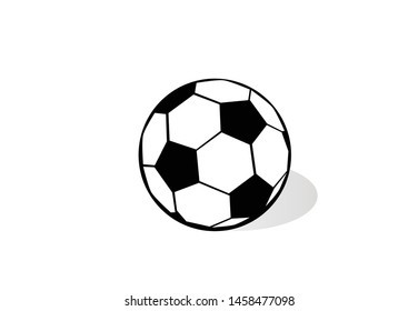 Flat icon of soccer ball, hobby, sport, passion.
