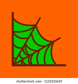 flat icon stylish background spider's web