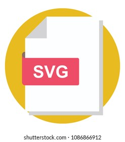 Flat icon of an SVG file