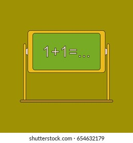 flat icon with thin lines blackboard