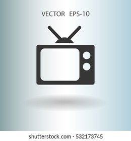 Flat icon of tv. vector illustration