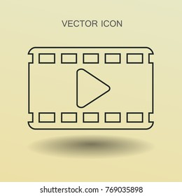 Flat icon of video. vector illustration