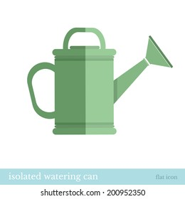 flat icon watering can isolated on white