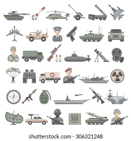 Flat Icons - Army