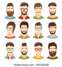 Astounding Flat Beard Images Stock Photos Vectors Shutterstock Natural Hairstyles Runnerswayorg
