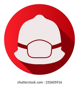 Flat icons of firefighter helmet vector illustration Isolated and editable.