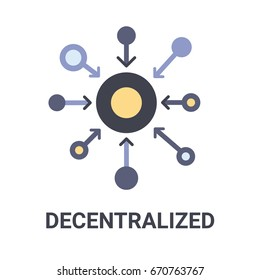 Flat illustration of a blue decentralized icon