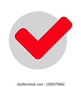 flat illustration of check mark vector icon, checkmark sign symbol