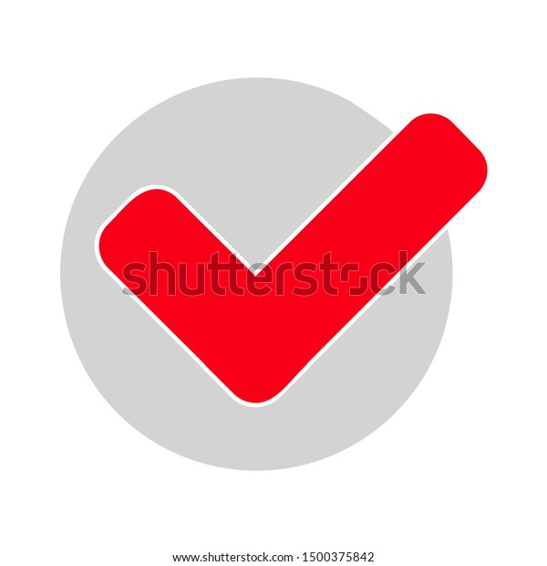 flat illustration of check mark vector icon, checkmark sign symbol