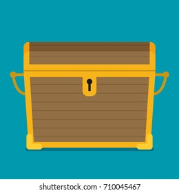 Flat illustration of chest vector icon