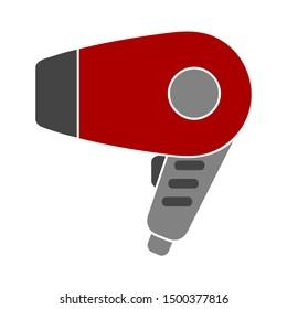 flat illustration of hairdryer vector icon. hair dryer sign symbol