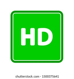 flat illustration of hd vector icon. movie sign symbol