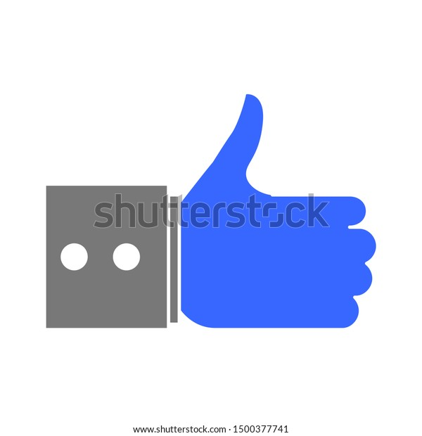 flat illustration of like vector icon, social sign symbol