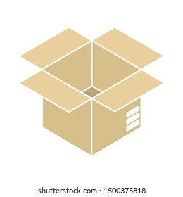 flat illustration of package vector icon, shipping sign symbol