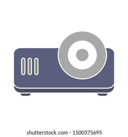 flat illustration of projector vector icon. presentation sign symbol