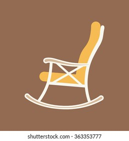 Flat illustration of rocking chair made in vector for your design