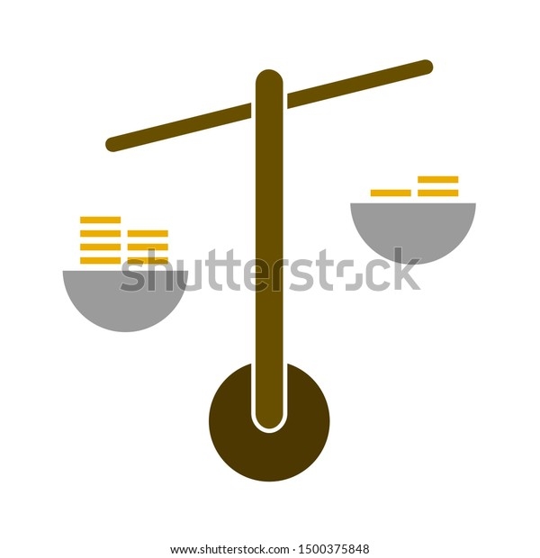 flat illustration of scales vector icon, balance sign symbol