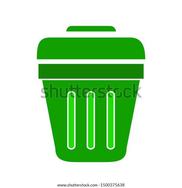 flat illustration of trash vector icon, garbage sign symbol