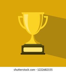 Flat illustration of a Trophy