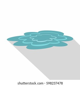 Flat illustration of water puddle vector icon for web