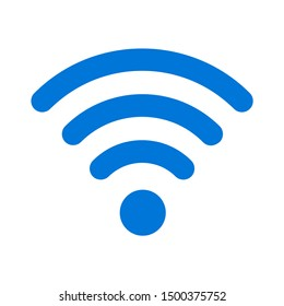 flat illustration of wifi vector icon, communication sign symbol