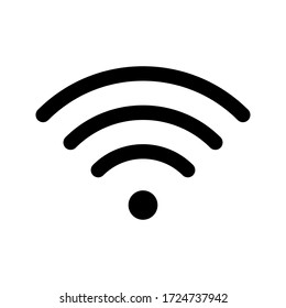 flat illustration of wifi vector icon isolated on white background editable