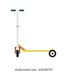 Flat illustration of yellow scooter