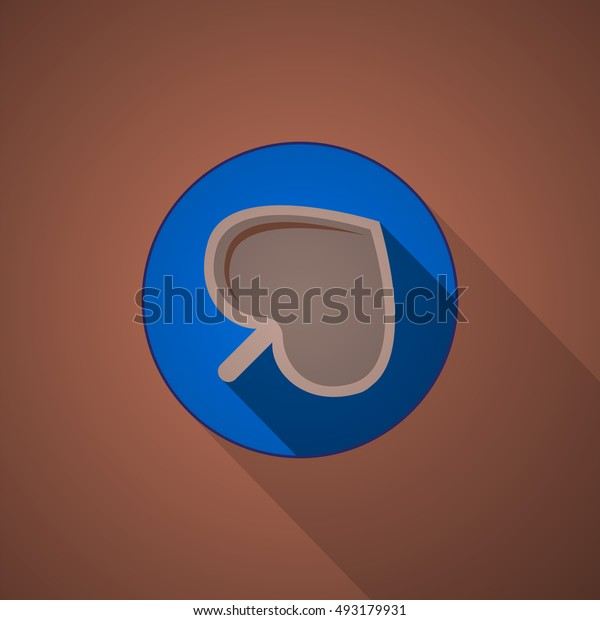 flat image of a cup of hot chocolate top view