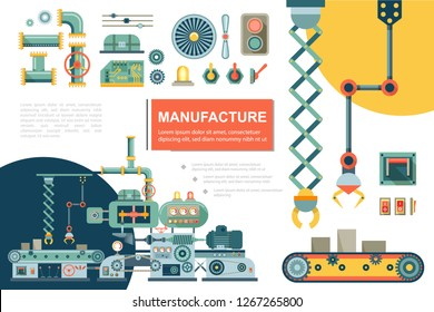 Flat Industrial Production Line Composition