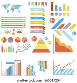 Flat Info-graphic elements