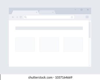 Flat internet browser window