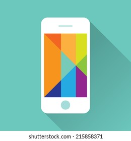 Flat iPhone with Colorful Screen Icon