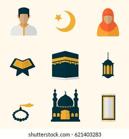 Flat Islam Icon Collection