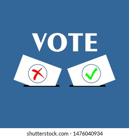 Flat isolated election vote sign. election vintage background. Vector vote banner