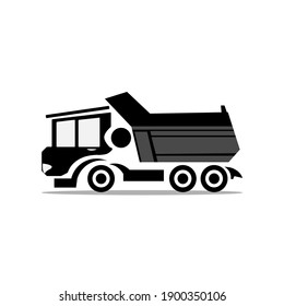 flat, isolated and trendy style truck. Truck background for your website design logo, app, UI. Vector icon illustration, EPS10.