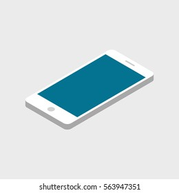Flat isometric infographic phone for advertising and promotion. Vector illustration.