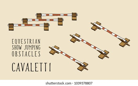 flat and isometry equestrian show jumping obstacles cavaletti