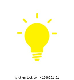 flat lamp icon sign symbol, vector, eps 10
