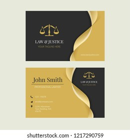 Flat Law and Justice Business Card Collection