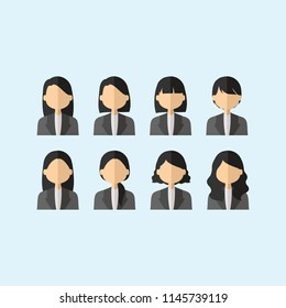 Flat Lay Professional Career Woman Cartoon Stock Vector Royalty Free 1145739119