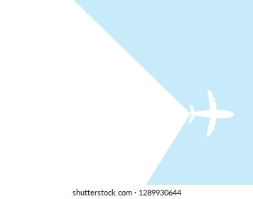 Flat Layer Airplane with Blank Space