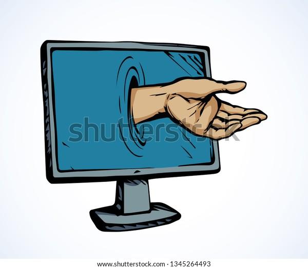 Flat Lcd Ui Tv Ill Device Stock Vector (Royalty Free) 1345264493