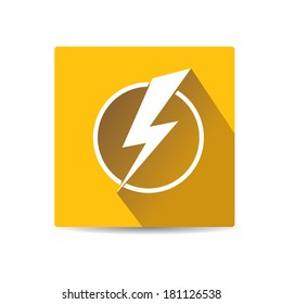flat lightning bolt vector icon