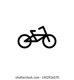 flat line bicycle icon symbol sign, logo template, vector, eps 10