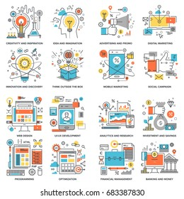 Flat Line Concepts - idea and imagination, digital marketing, social media, web development, program coding, investment, SEO and web optimization, innovation, UI development, design, banking and money