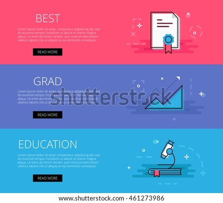 Educational Website Banners Autocad Training Banners
